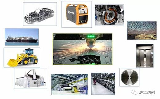 沪工10米大幅面龙门光纤激光切割机应用行业
