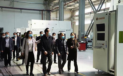 苏州市副市长蒋来清等领导调研篮球现金下注机器人智能装备产业基地