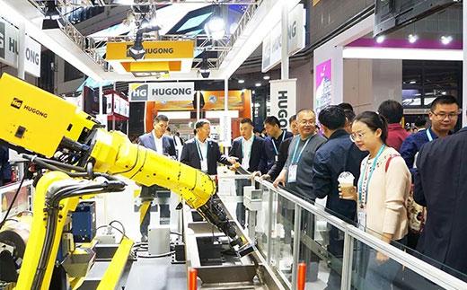 第二届进博会篮球现金下注意大利CEA展位机器人系统受到极大关注
